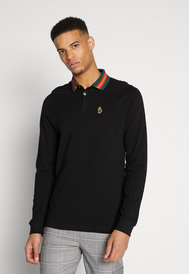 LONG SHOOTING STAR - Polo shirt - jet black