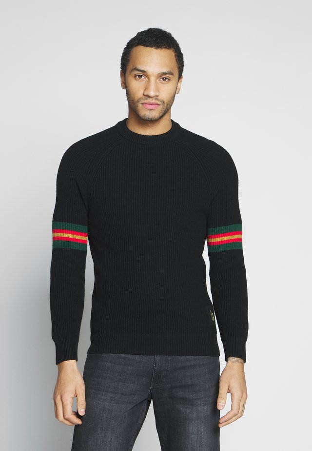 SPLATED - Sweter - jet black
