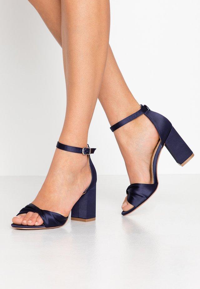 DEB - Sandaler med høye hæler - navy