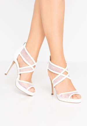 DESTINY - High heeled sandals - white