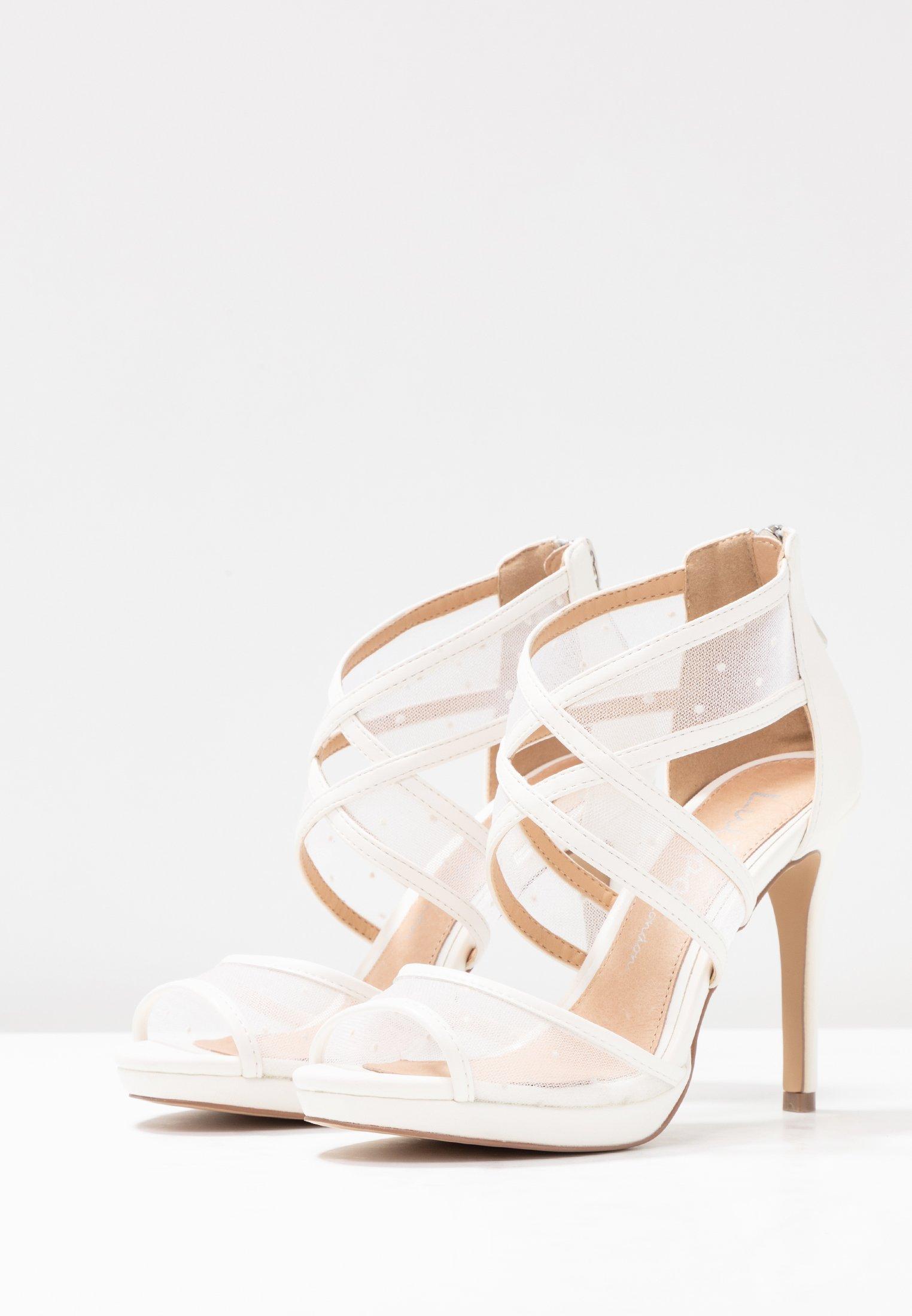 Lulipa London DESTINY - Højhælede sandaletter / Højhælede sandaler - white