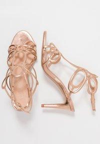Lulipa London - DELTA - Sandály na vysokém podpatku - rose gold - 3