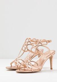 Lulipa London - DELTA - Sandály na vysokém podpatku - rose gold - 4