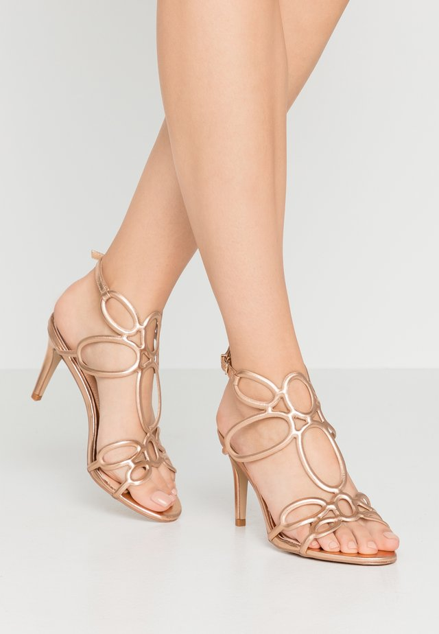 DELTA - High heeled sandals - rose gold