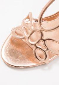 Lulipa London - DELTA - Sandály na vysokém podpatku - rose gold - 2