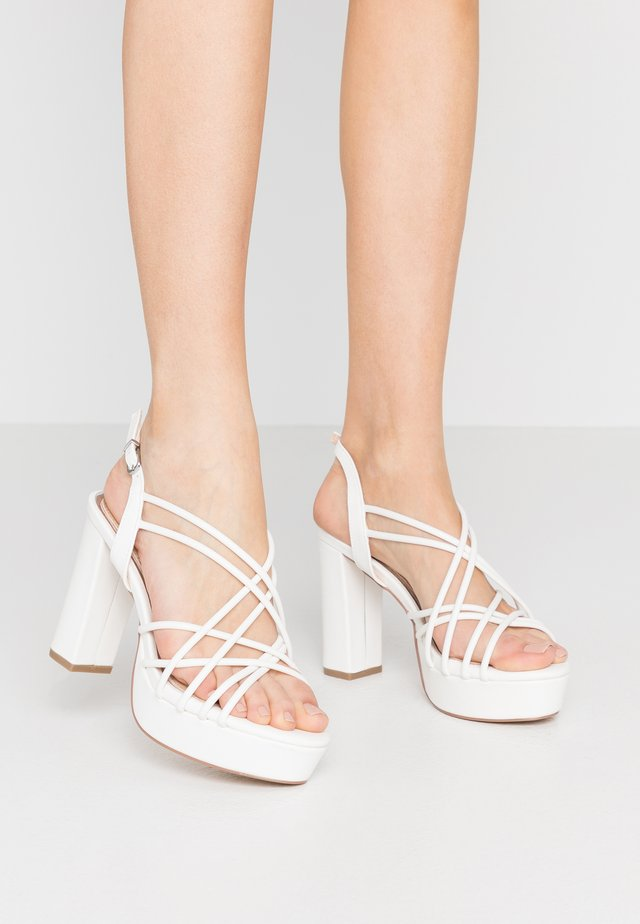 LAPIKA - High heeled sandals - white