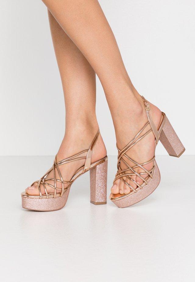LAPIKA - High heeled sandals - rose gold