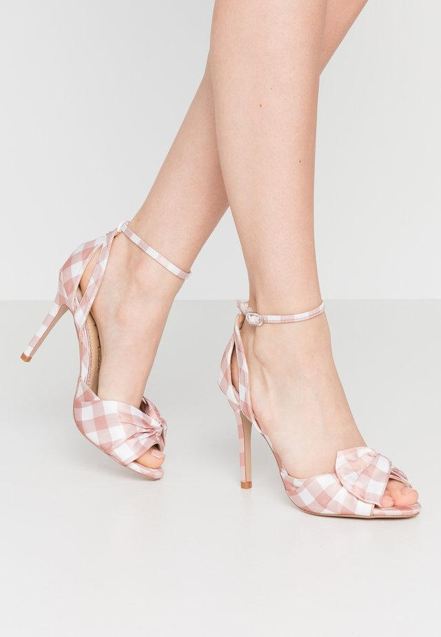 LIBERTY - High heeled sandals - natural