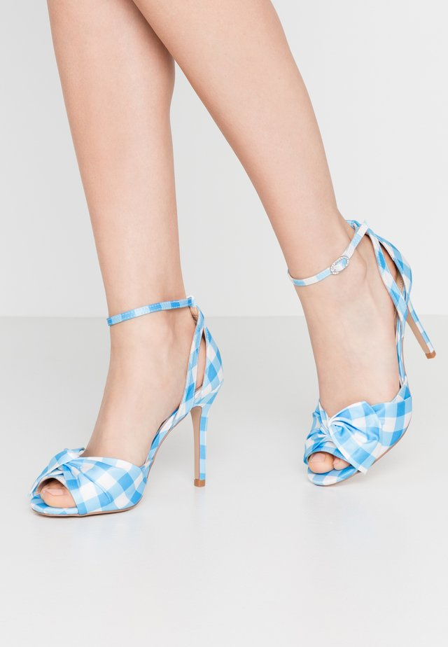 LIBERTY - High heeled sandals - blue