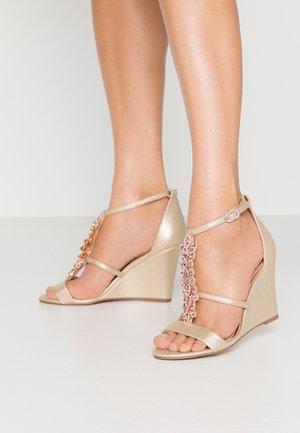 LISETTE - Sandály na vysokém podpatku - gold