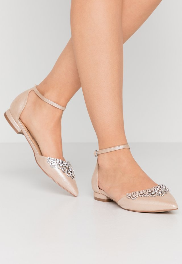 LOULOU - Ankle strap ballet pumps - metallic