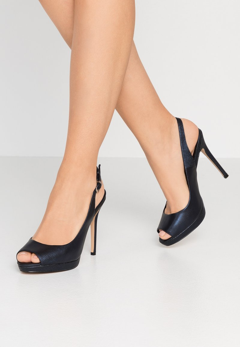 Lulipa London - DALLAS - Peeptoe heels - navy