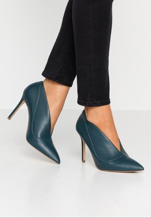DINA - High heeled ankle boots - teal