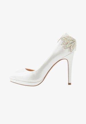 LAURIE - Høye hæler med åpen front - white