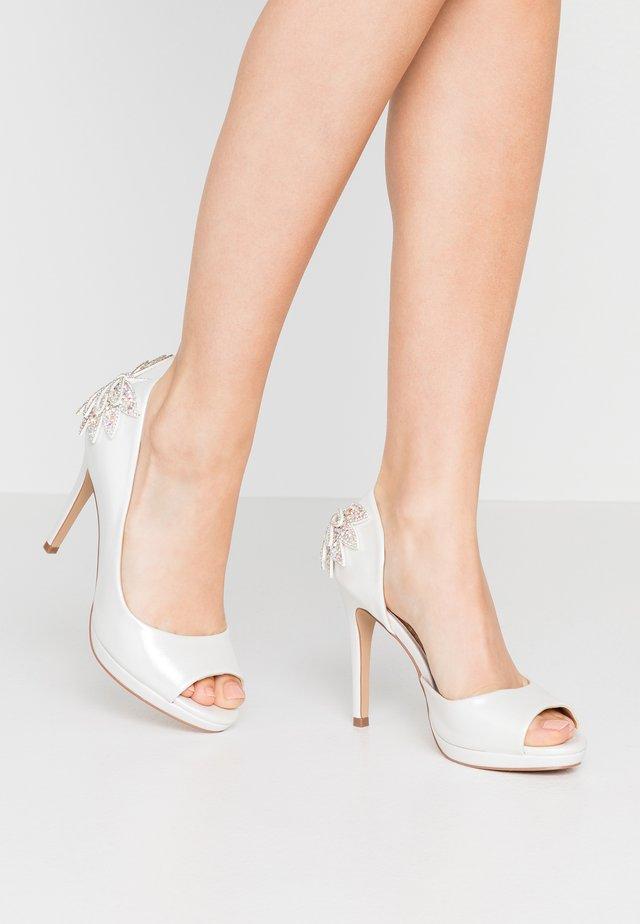 LAURIE - Peeptoe heels - white