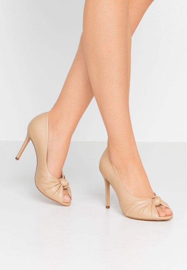 LILA - Peeptoe heels - natural