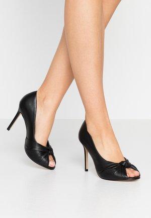 LILA - Højhælede peep-toes - black