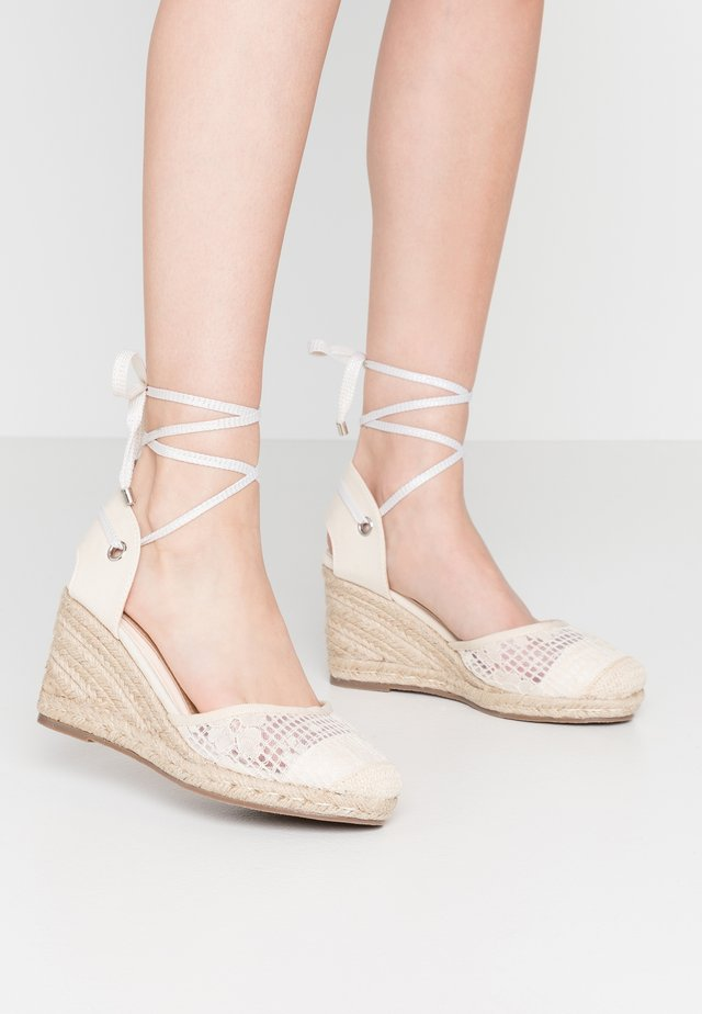 LORENA - High heeled sandals - cream