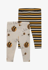 Lucy & Sam - CROPPED STRIPE AND BEE KIND 2 PACK - Leggings - Trousers - multi-coloured - 3
