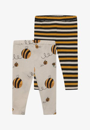 CROPPED STRIPE AND BEE KIND 2 PACK - Legíny - multi-coloured