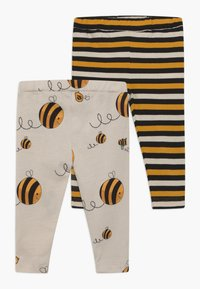 Lucy & Sam - CROPPED STRIPE AND BEE KIND 2 PACK - Leggings - Trousers - multi-coloured - 0