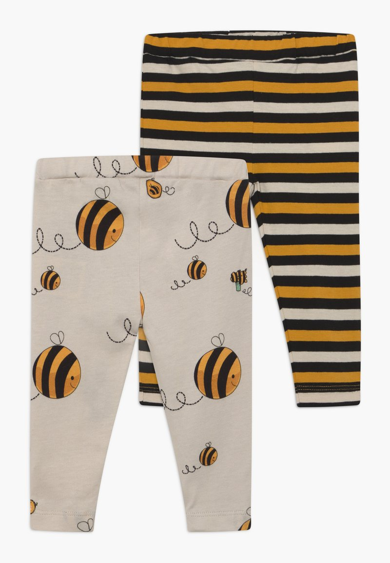 Lucy & Sam - CROPPED STRIPE AND BEE KIND 2 PACK - Leggings - Trousers - multi-coloured