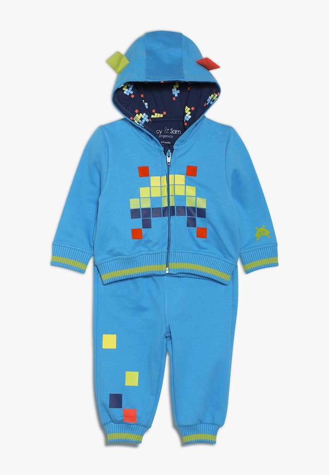 SPACE INVADER BYTE SIZE TRACKSUITZ BABY - veste en sweat zippée - dark turquoise