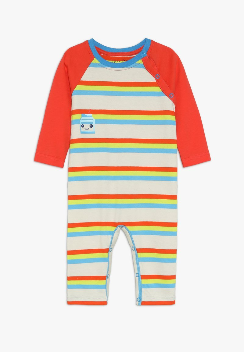 Lucy & Sam - STRIPE PLAYSUIT MILK BOTTLE GRAPHIC BABY - Jumpsuit - multicolor