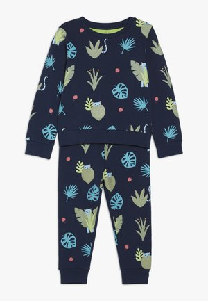 SPOT THE LEOPARD JUNGLE TRACKSUIT BABY - Sweatshirt - dark blue