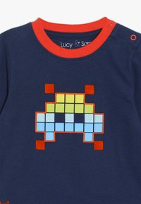 Lucy & Sam - SPACE INVADER GRAPHIC LONG SLEEVE TEE BABY - Long sleeved top - navy - 4