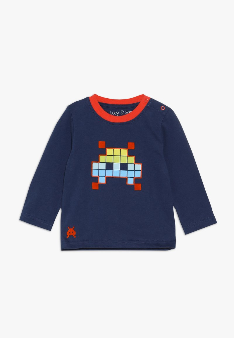 Lucy & Sam - SPACE INVADER GRAPHIC LONG SLEEVE TEE BABY - Long sleeved top - navy