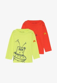 Lucy & Sam - ALIEN TEE BABY 2 PACK - Langarmshirt - lime/orange - 3
