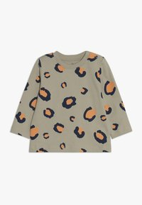 Lucy & Sam - TEES LEOPARD PRINT BABY 2 PACK - Langarmshirt - off white/light blue - 2