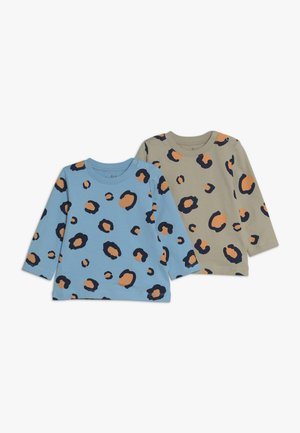 TEES LEOPARD PRINT BABY 2 PACK - Long sleeved top - off white/light blue