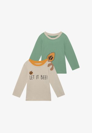 A KEEPER LET IT BEE 2 PACK - Camiseta de manga larga - green/cream