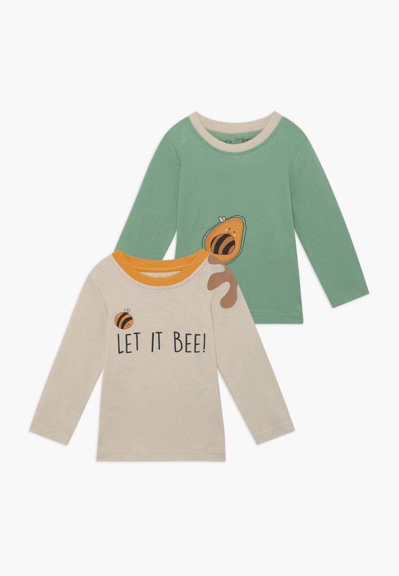Lucy & Sam - A KEEPER LET IT BEE 2 PACK - Top sdlouhým rukávem - green/cream