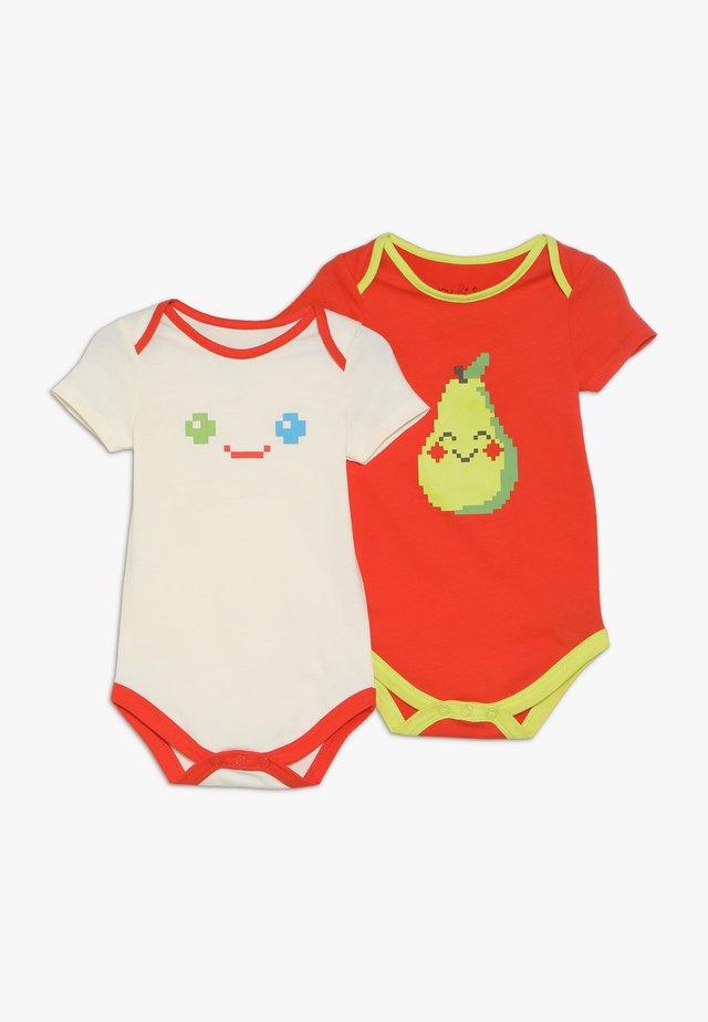 PIXEL BODYSUIT BABY 2 PACK - Body - birch/orange