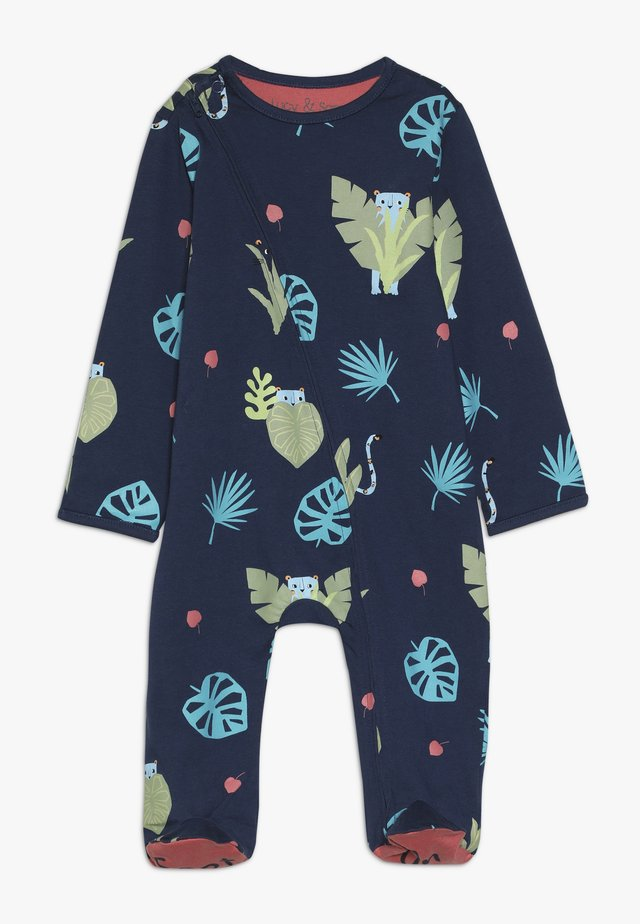 ZIP BABYGROW JUNGLE PRINT BABY  - Pyjama - dark blue