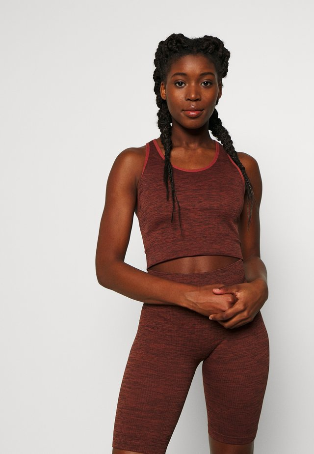VIRTUE SEAMLESS MIDI - Topper - rust