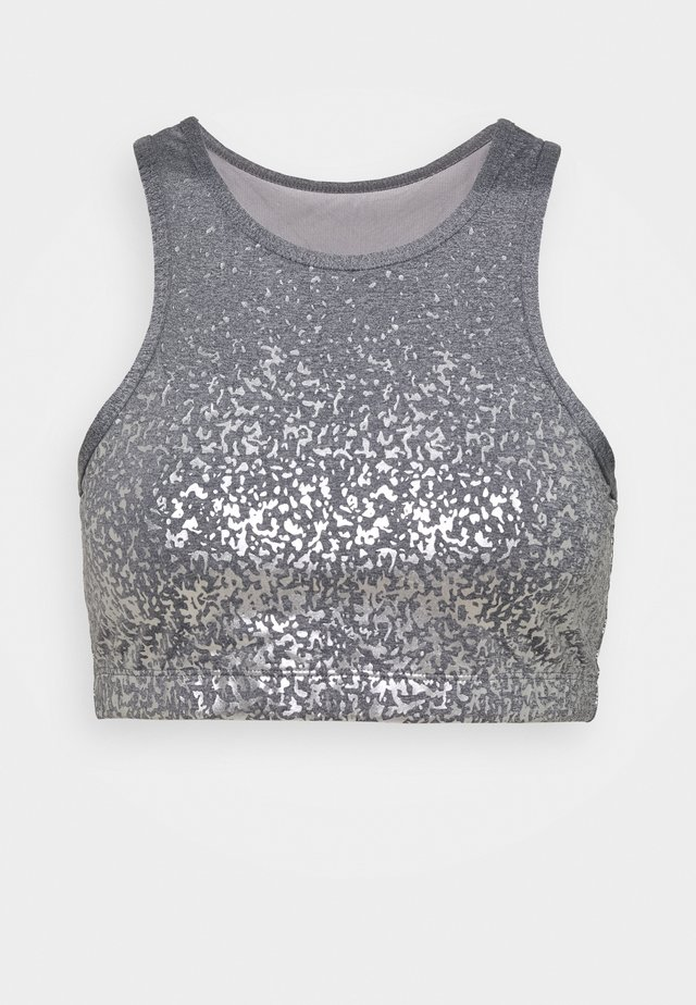 SHIMMERING SKY CROP - Top - grey marle