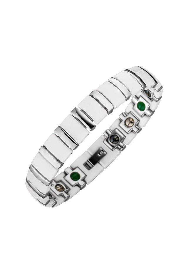 ARMBAND MAGNET KERAMIKARMBAND TITAN - Bracelet - weiß/silber