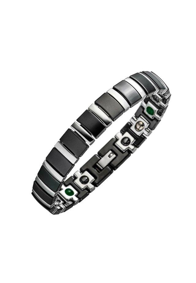 MAGNET KERAMIKARMBAND TITAN - Bracelet - schwarz/silber