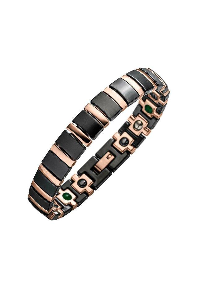 Bracelet - schwarz/rosé