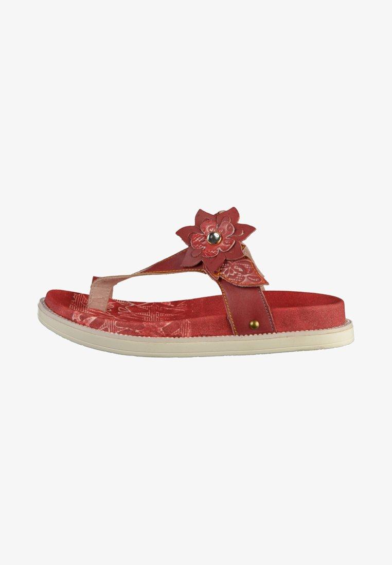 LAURA VITA - Pantolette flach - red