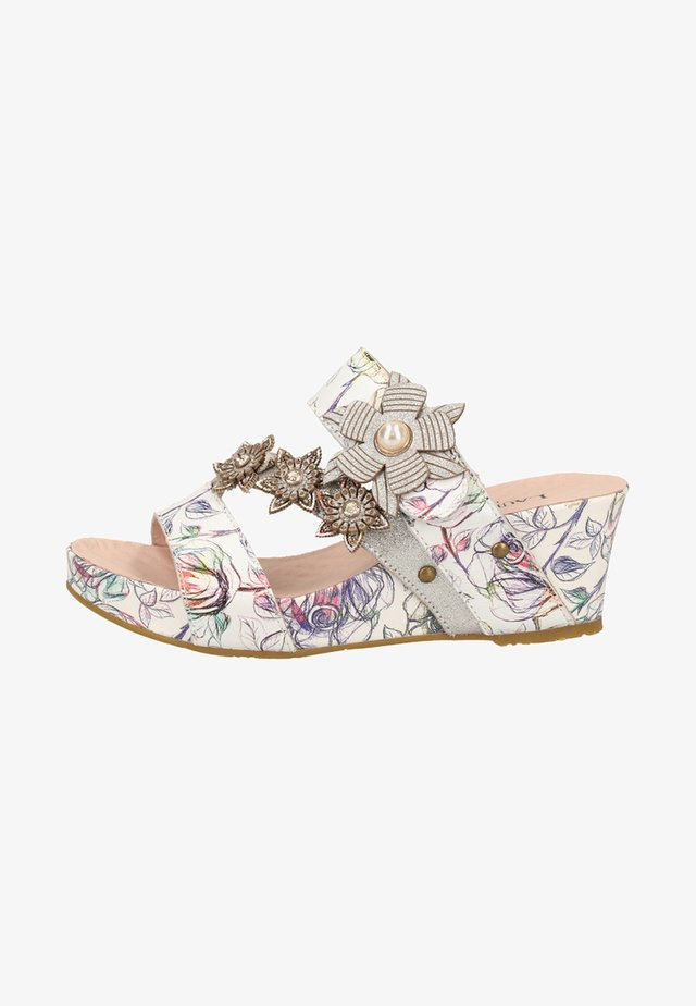 Wedge sandals - multi-coloured