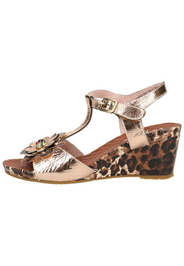 LAURA VITA SANDALEN - Wedge sandals - marron