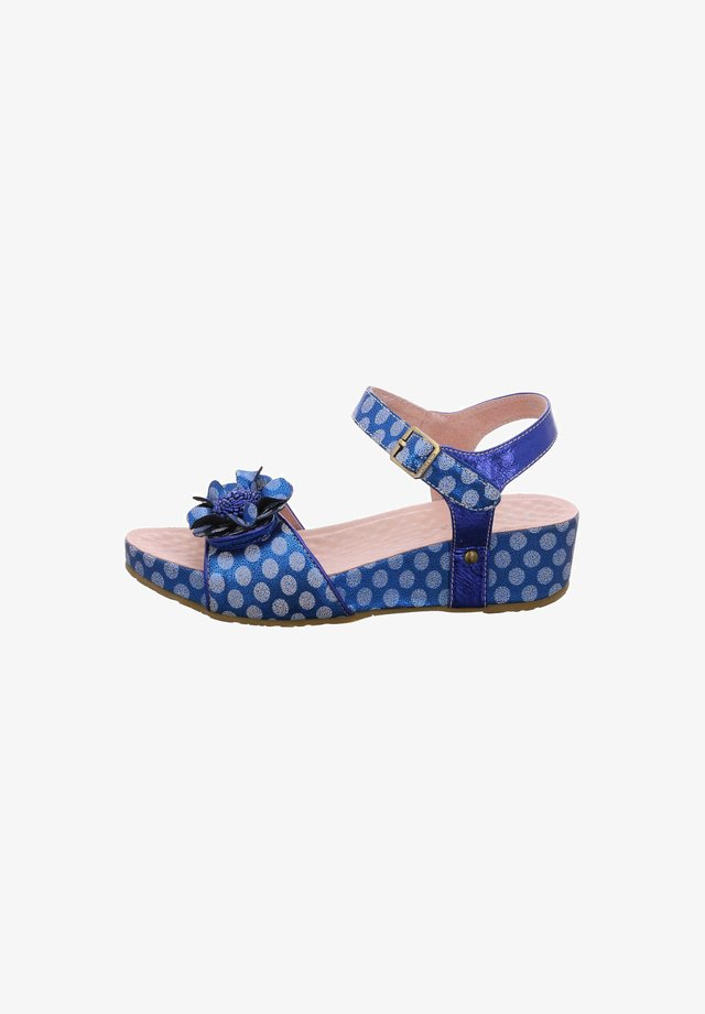 Wedge sandals - bleu