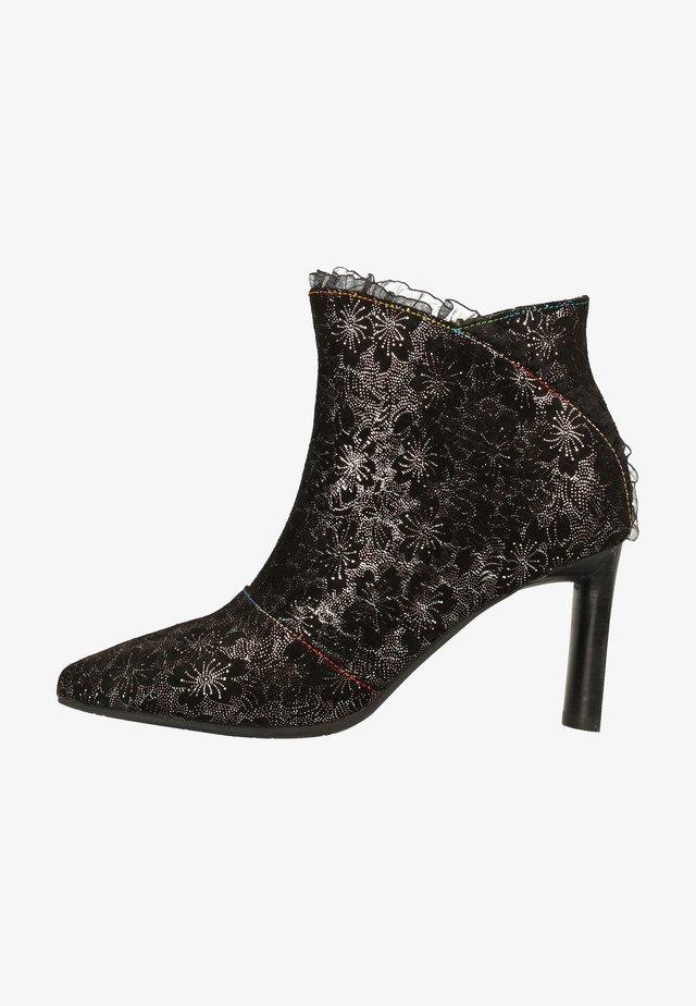 Højhælede støvletter - noir