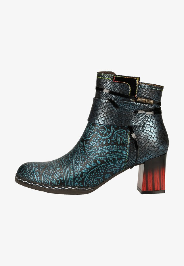 Ankle boot - bleu