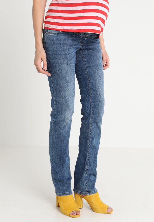 GRACE - Straight leg jeans - stone wash
